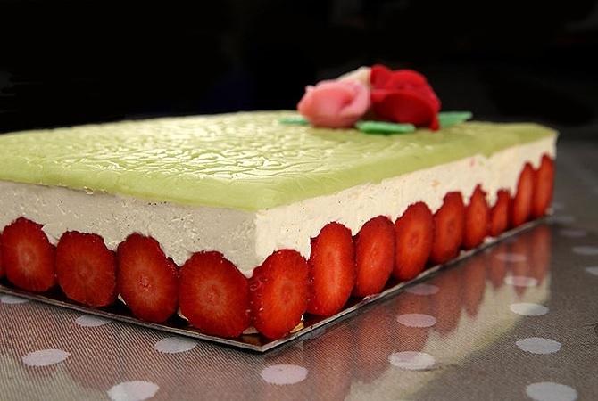 Клубничный торт Фрезье рецепт с фото