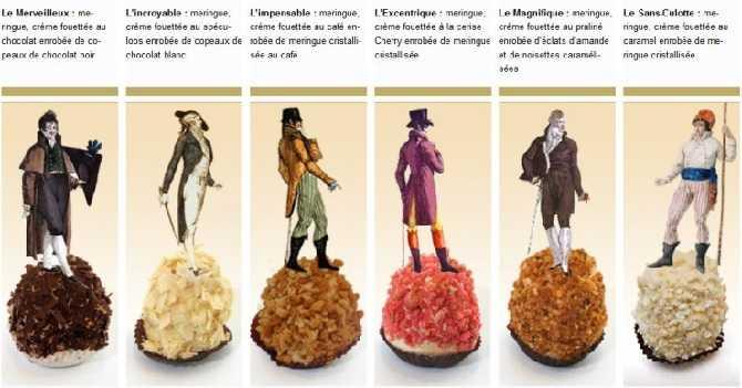 Мервейе - ассортимент современных французских безе со сливками